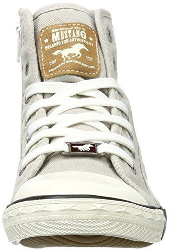 Mustang 1099-502, Sneaker a Collo Alto Donna Grigio (Hellgrau)