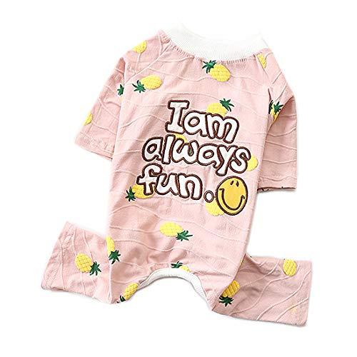 PZSSXDZW Haustierhundekostüm Sommerkleidung Neue Freizeit Hund Vierbeinige Kleidung Haustierkleidung Welpenkleidung,Pink,XL