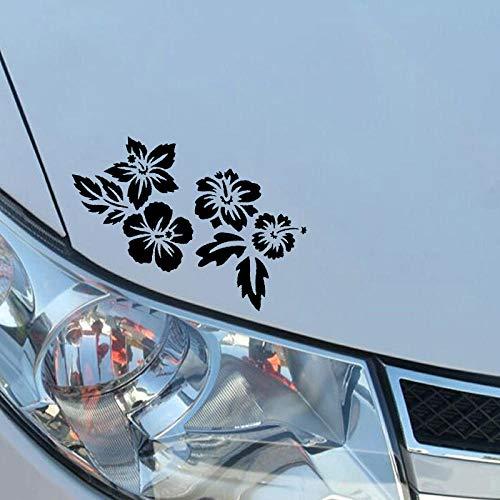 Wangcai 18,2 Cm * 11,7 Cm Kleine Blume Haufen Mit Grünem Gras Lustige Technologie Vinyl Auto Aufkleber Lebendige Aufkleber Empfindliche Design 2 Stücke -