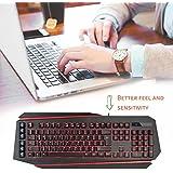 Delux K9500U Ergonomic USB Wired Computer Keyboard Backlight Multimedia Key