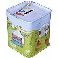 GLAMPING - CARAVAN/CAMPING - Emma Ball Colourful MONEY BOX / PIGGY BANK / MONEY BANK - 9cm