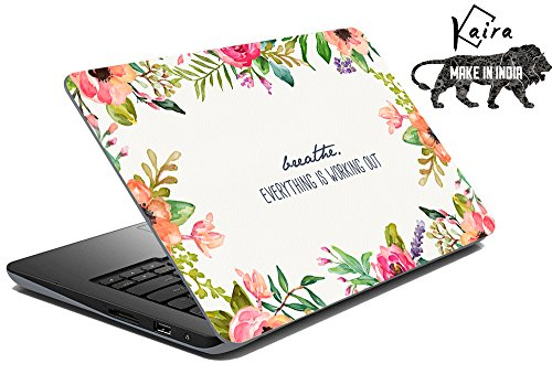 Kaira High Quality printed laptop skins/ laptop decals/ Laptop stickers for Apple,HP, Lenovo, Sony, Vaio, Dell, Acer, Asus, Compaq, Toshiba any size of laptop 11.0 inch to 15 inch)(breathe)