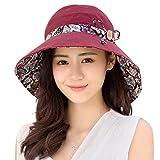 HAPEE Damen Sonne Hüte Sommer Reversibel UPF 50+ Strandhüte Faltbar Breit Rand Kappe