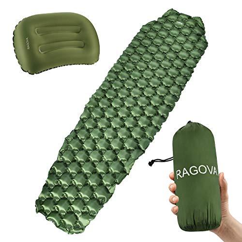 Ragova Isomatte Camping Selbstaufblasbare, Ultraleichte aufblasbare Campingmatte & Reisekissen für Backpacking, Reisen und Wandern Outdoor-Luftmatratze, leicht und kompakt