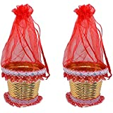 Majik Potli For Gifting, Best Gift Item Like Dry Fruits, Chocolate Gifting, Sweet Gifting, Wedding Gifting, Set Of 2, 20 Gram, Red, Pack Of 1