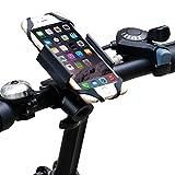 Ipow® Universal Fahrrad Handyhalterung mit Metall Sockel Handy Halterung Halter, Stabile Fahrradhalterung für Smartphone wie iPhone 7 / 6 Plus / 6 / 5s / 5 & Samsung Galaxy S7 / S6 Edge / S6 / S5 / S4 / S4 Mini / Note 3 / Note 4 / Note Edge usw. - 2