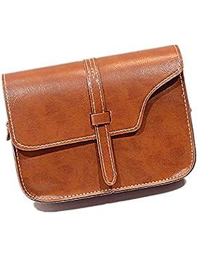 Loveso-Taschen Damen Elegant weibliche Umhängetasche faux Ledertasche Kreuzkörper auf spezielle Handtasche (Braun)
