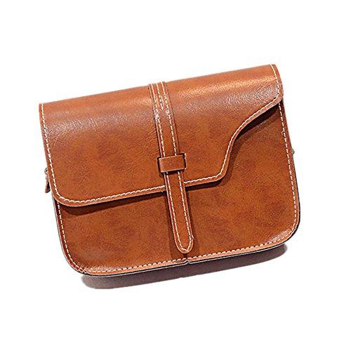 Loveso-Taschen Damen Elegant weibliche Umhängetasche faux Ledertasche Kreuzkörper auf spezielle Handtasche_(Rosa) Braun