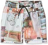 Billabong Palmories Boys 13 Shorts de Bain Garçon, Multico, FR : 14 Ans (Taille Fabricant : 14)