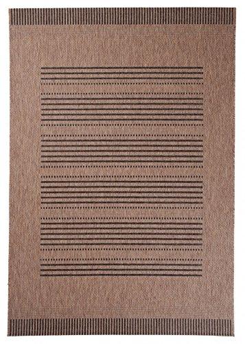 Alfombra Cocina Salon 140 x 200 cm Beige De Sisal Decoración Rayas Diseño/Carpeto Colección Sisal