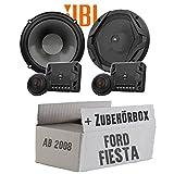 JBL GX600C | 2-Wege | 16cm Lautsprecher System - Einbauset für Ford Fiesta MK7 Front Heck - JUST SOUND best choice for caraudio