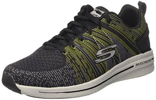 Skechers Herren Burst 2.0- IN The Mix II Sneaker, Schwarz (BKLM), 44 EU -