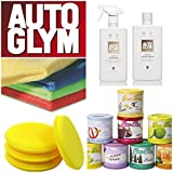 Autoglym Leather Cleaning & Protection Kit Gift Set (Leather Cleaner / Balm + Deo Air Freshener (2 x Cloth & Pad))