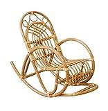 Gestäbter Kinderschaukelstuhl / Schaukelstuhl aus Rattan Farbe Honig