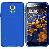 mumbi Schutzhülle Samsung Galaxy S5 / S5 Neo Hülle transparent blau