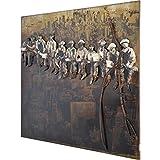 3D Metallbild bauarbeite Wandbild 100 x 100 x 5 cm New York Bild aus Metall in Handarbeit