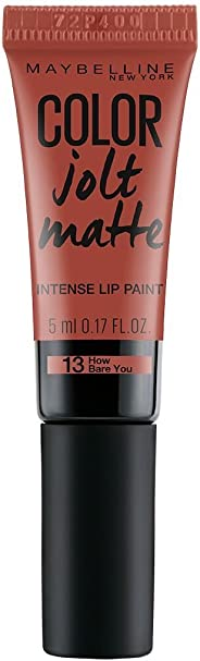 Maybelline New York Color Jolt Matte Lip Paint, 13 How Bare You, 5ml