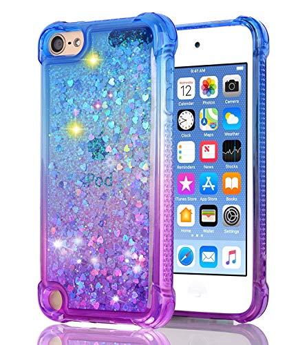Baisrke Schutzhülle für iPod Touch 6 Touch 5, mit Farbverlauf und Glitzer, Blau/Violett