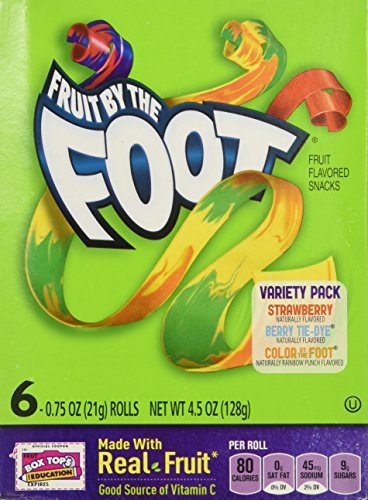 riety Pack (Strawberry, Berry Tie Dye, Color By the Foot, 6-count Rolls (Pack of 2) by Fruit by the Foot ()