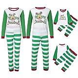 Conjunto de Pijamas Familiares de Navidad, Trajes Navideños para Mujeres Hombres Niño, Ropa Invierno Sudadera Chándal Suéter Niños de Navidad-Bebé