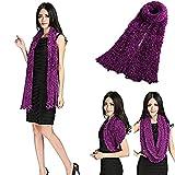 RICKYY Trendy Hot fashion multi style magic scarf wrap cardigan neck warmer (Wine)