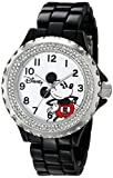 Disney Damen w001637 Mickey Maus Analog Display Analog Quartz Black Watch