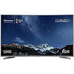 "TV LED HISENSE H55N6600 - 55""/138CM 4K UHD CURVO 3840X2160 - DISEÃ'O SLIM - 1200HZ PCI - SMART TV - HDR - 4xHDMI - 3xUSB - GRIS/NEGRO"