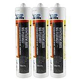 DIP-Tools Montagekleber - Geruchsarmer und Wasserfester Universal Montage Kleber für Innen & Außen - transparent (3, 290ml)