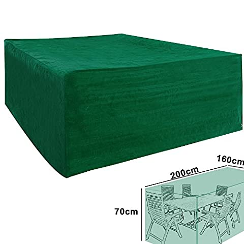 WOLTU GZ1161 Outdoor Furniture Protective Cover Waterproof Heavy Duty Dust UV Rain Cover for Garden&Patio Table Chair set,PE tarpaulin,70x200x160cm,Green