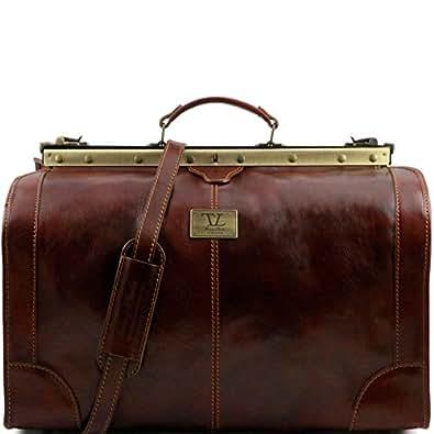 810224 - TUSCANY LEATHER: MADRID - Gladstone Leather Bag - Large size, brown
