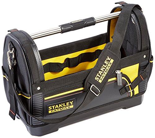 Stanley FatMax Werkzeugtrage, 48x33x22cm, 600 Denier Nylon, wasserdichter Kunststoffboden, ergonomischer Gummigriff, Rahmen stahlverstärkt, verstellbarer Schultergurt, 1-93-951