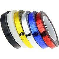10pezzi colori assortiti in vinile per unghie Zigzag Striping Tape Nail Sticker
