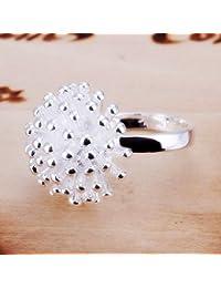 Skyllc® Fuegos artificiales de plata personalidad única anillo plateado