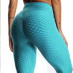 Mallas Pantalones Deportivos Leggings Mujer Yoga de Alta Cintura Elásticos y Transpirables para Yoga Running Fitness con Gran Elásticos1090
