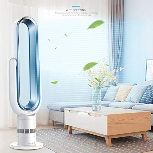 DX.JLY Ventilateur sans Lame Sécurité d'économie d'énergie Fonction de synchronisation Travail Silencieux Flux d'air Grand-Angle avec télécommande