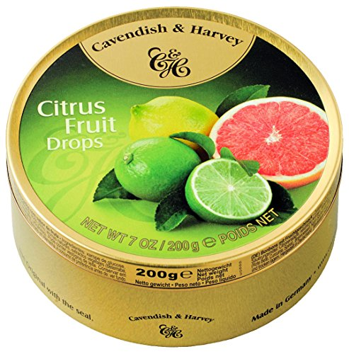 Cavendish & Harvey - Citrus Fruit Drops - Bonbons, 200g in Metalldose
