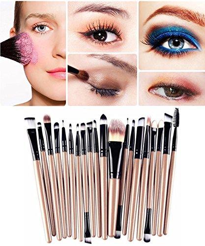 Demarkt Professionnel 20 pcs/set Pinceau de Maquillage Fondation Outils Ombre à Paupières Eyeliner Lip Sourcils Pinceau Maquillage