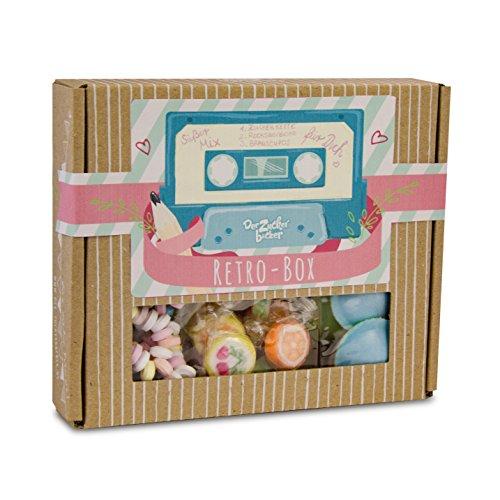 Retro Box, toller Süßigkeiten-Mix aus Deiner Kindheit, 94 Gramm Naschfreude in einer hochwertigen Box, Kindheitszauber und Retroklassiker vereint (Ufo-süßigkeiten)