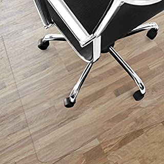 Office Marshal® NEO Transparent vinyl floor protector mat for parquet, laminate flooring - 9Sizes.  Depth: approx. 1.5mm., vinyl, transparent, 120 x 200 cm
