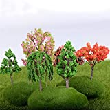 ChaRLes 25Pcs / Lot 5Cm sabbia tabella modello micro giardino paesaggio filo albero decorazioni di miscelazione di colore