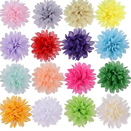 aby Mädchen 4 Zoll Chiffon Blumen Haarspangen Handgemachte Mädchen Hair Bows Haarspangen für Teens Mädchen Babys Kinder Frauen Geburtstag Fotografie (Safari-outfit Für Kleinkinder)