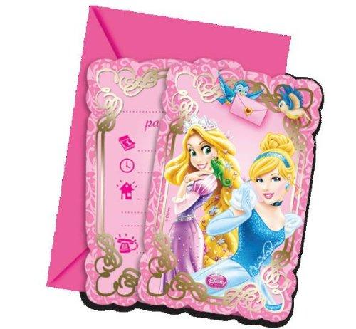 Disney Prinzessinnen Rapunzel, Schneewittchen und Co. 6 Einladungskarten Kindergeburtstag (Und Schneewittchen Rapunzel)