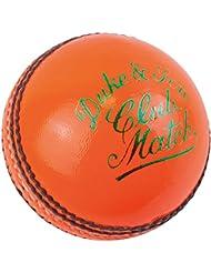 "Dukes calidad piel cosida a mano Club Match ""a"" pelota de críquet (171G, naranja"