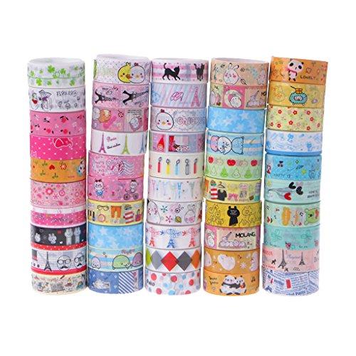 es Multi-Muster Dekorative Washi Tape Masking Tape Tape Tape Set für Scrapbooking Basteln DIY -10 Rollen ()