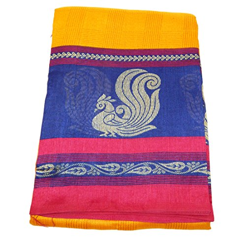 Fig n Honey New Arrival Silk Saree Peacock Design in Yellow and...