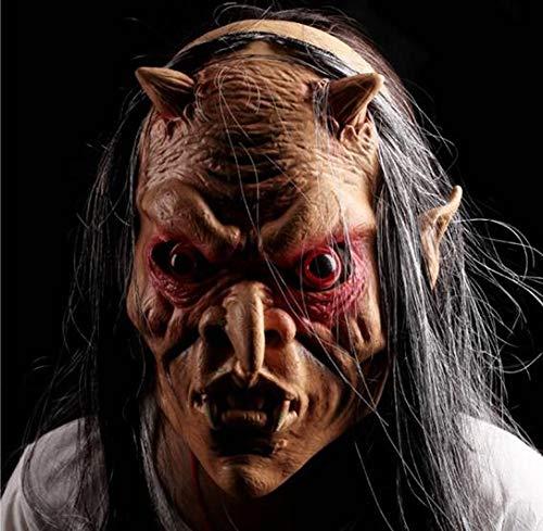 Teufel Maskerade Maske - Masken Halloween-Maskerade ganzer Mann-Grimassen-Teufel-rote Augen-graue