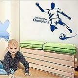 Zller2587 Wandaufkleber Abnehmbare Sport Mann Spielen Fußball Wohnzimmer Junge Schlafzimmer Dekorative Treppe Home Decor Art Decals