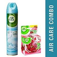 Airwick Aerosol - 245 ml (Fresh Water) with Airwick Everfresh Gel - 50 g (Rose and Lavender)