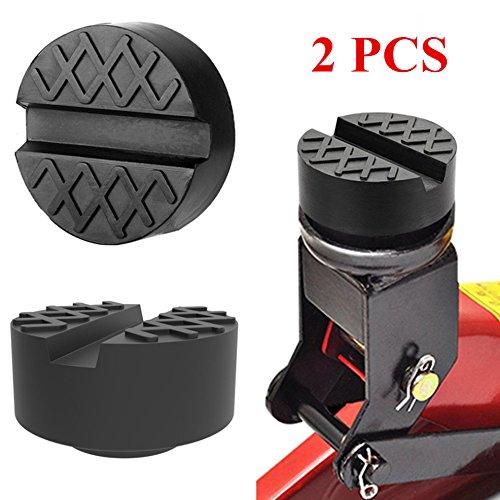 Epangda 【Neue Version】 2PCS Wagenheber Gummiauflage/für Autoaufzüge/Universal mit Nut Größe 65 * 35mm