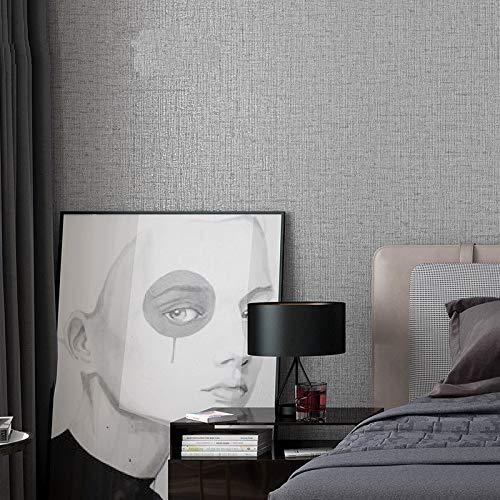 LFBIZHI Moderne Einfache Beige Leinenstruktur Plain Solide Tapetenbahn Vinyl PVC Kurze Reine Farbe Tapeten Schlafzimmer Wohnzimmer Decor 5,3㎡ 7803
